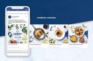 Exemple d'utilisation du carrousel facebook en alimentaton