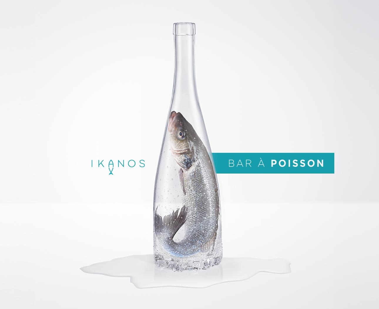 Advertising for the restaurant Ikanos