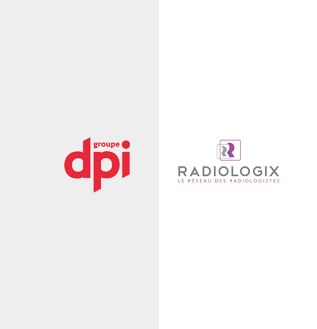Groupe DPI and Radiologix logos