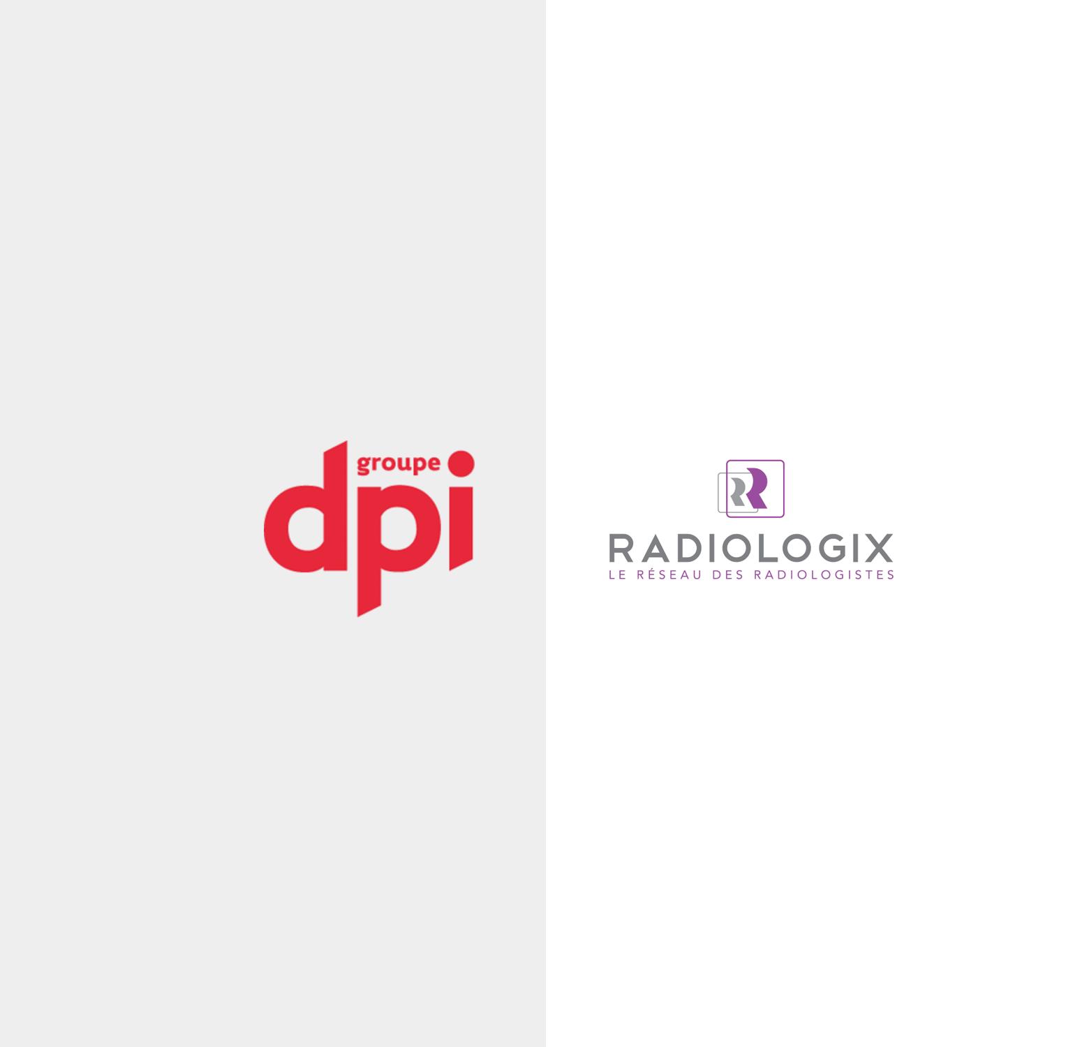 Logos Groupe DPI et RadiologiX