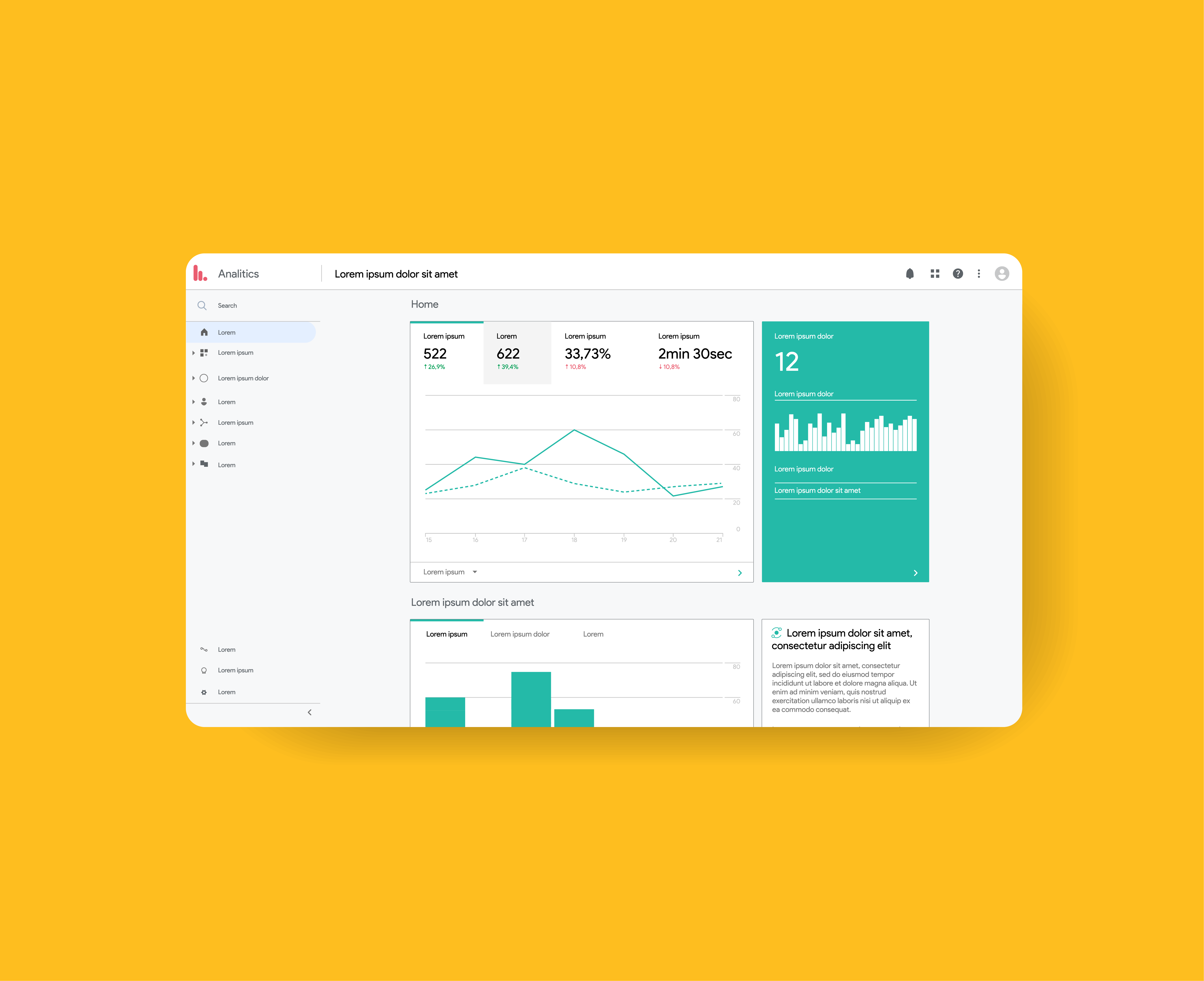 Campaign dashboard example
