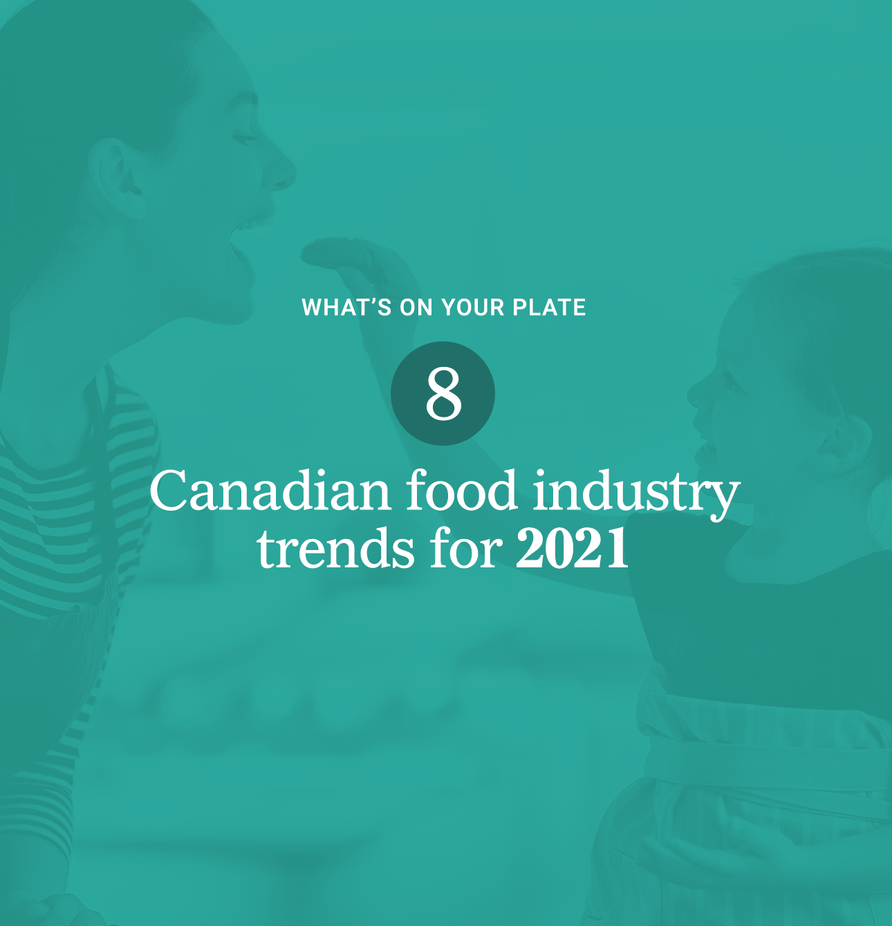 Cover of Braque's white paper on 2021 food trends